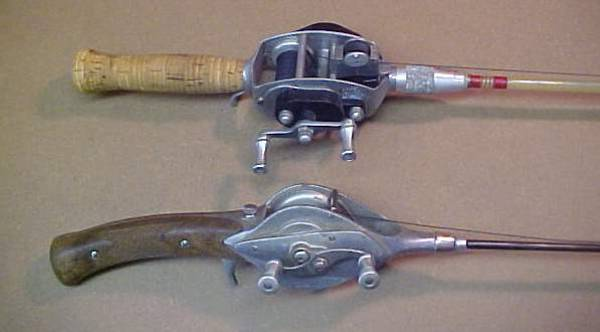 Antique fishing collectibles miscellaneous antique for Old fishing rods